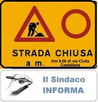 SINDACO INFORMA (21 OTTOBRE 2017) - STRADA PROV.77 PER CIVITA CASTELLANA