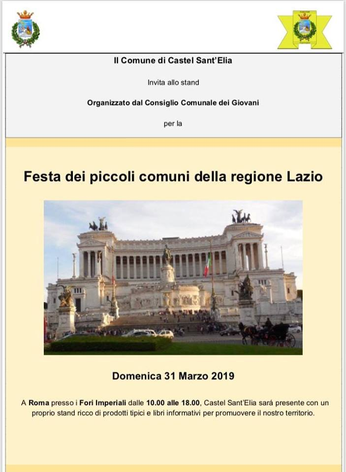 FESTA DEI PICCOLI COMUNI 31.03.2019 ROMA