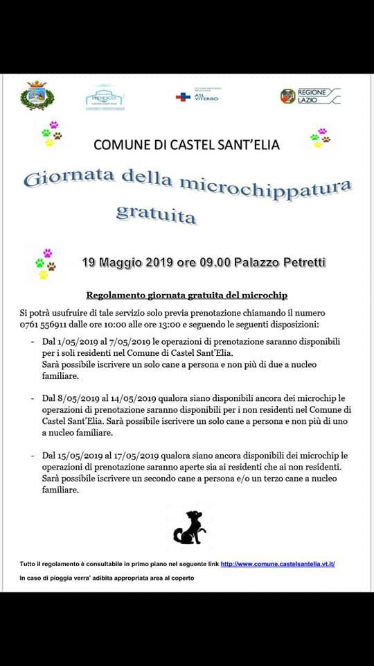 GIORNATA DELLA MICROCHIPPATURA GRATUITA