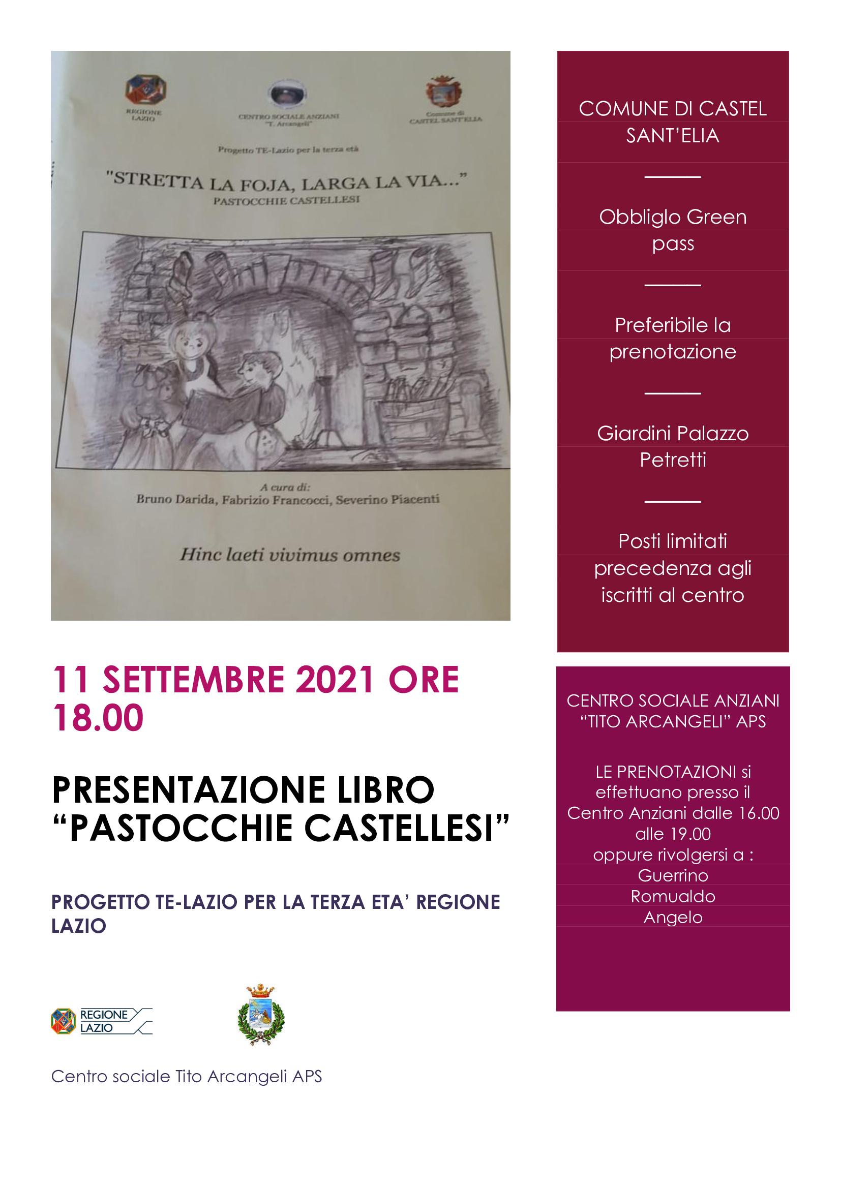 PRESENTAZIONE LIBRO 11 SETTEMBRE ORE 18.00
