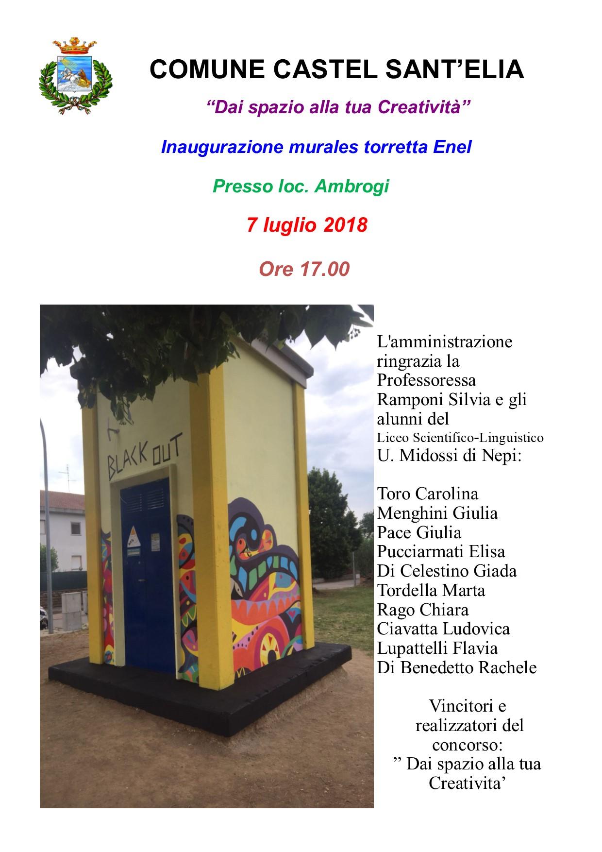 Inaugurazione murales cabina Enel loc. Ambrogi