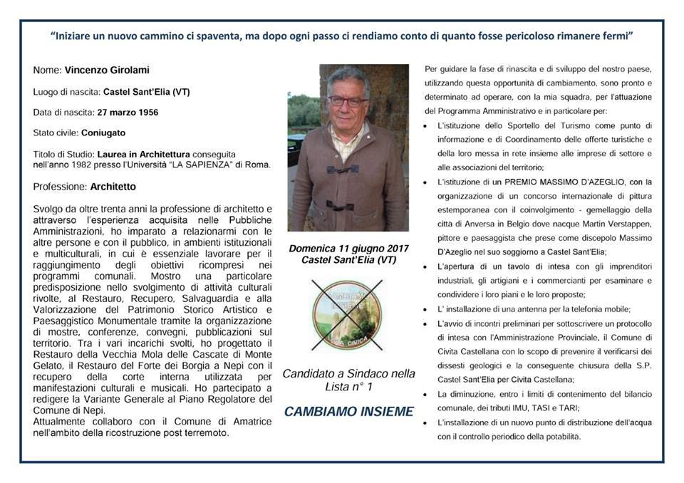 A) SINDACO- VINCENZO GIROLAMI