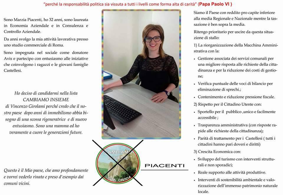 c) ASSESSORE MARZIA PIACENTI