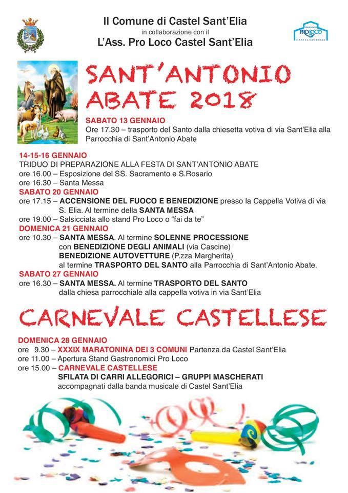 FESTIVITA' DI SANT ANTONIO E CARNVALE INVERNALE CASTELLESE