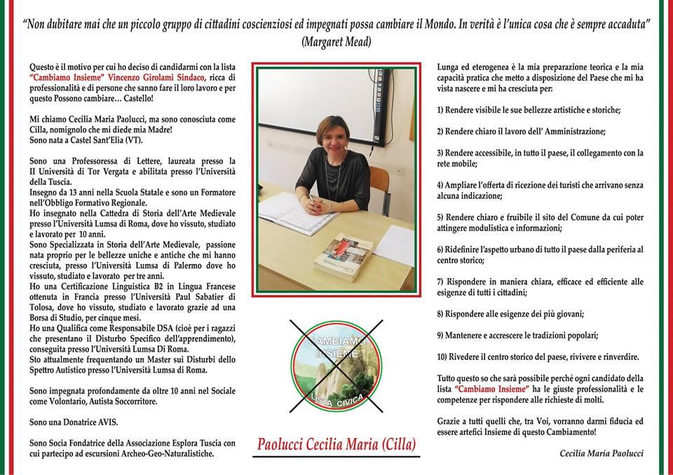 F) CONSIGLIERE PAOLUCCI CECILIA MARIA