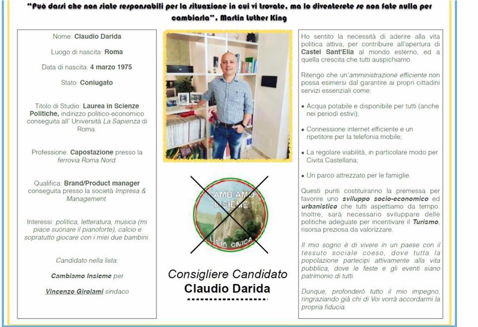 G) CONSIGLIERE CLAUDIO DARIDA