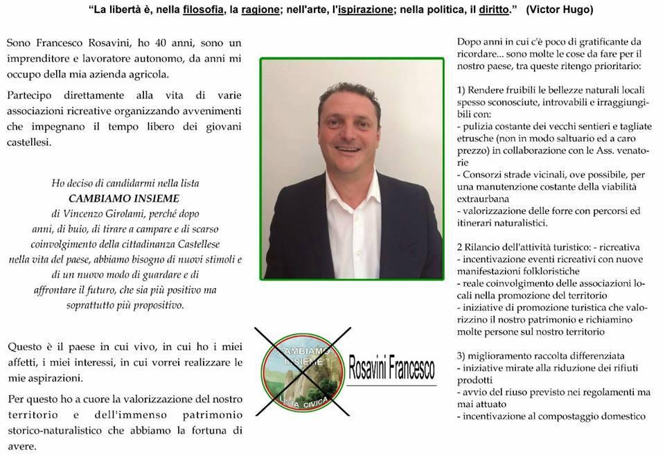 D) CONSIGLIERE  FRANCESCO ROSAVINI